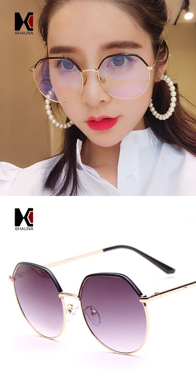 d6f3648b03a Double colors oversize women square metal glasses frame fashion ladies  clear yellow lens sunglasses  alloy