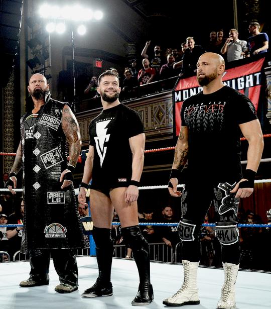 Finn Balor Luke Gallows And Karl Anderson Bullet Club Logo Balor Club Aj Styles