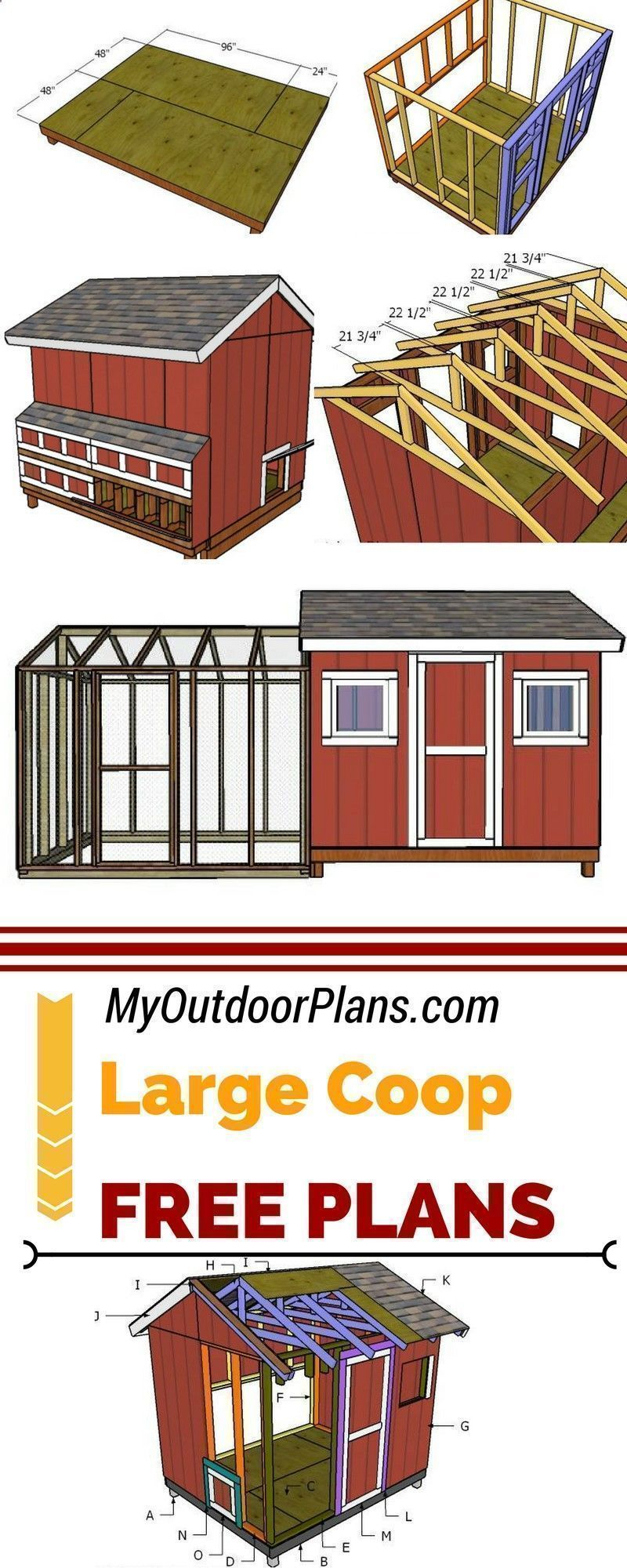 Chicken Coop - Learn how to build a large chicken coop so ...