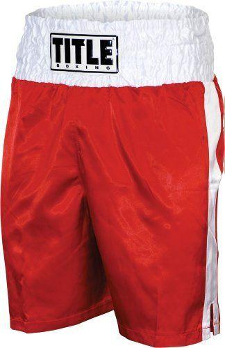 Title Professional Boxing Trunks Medium Pink//White
