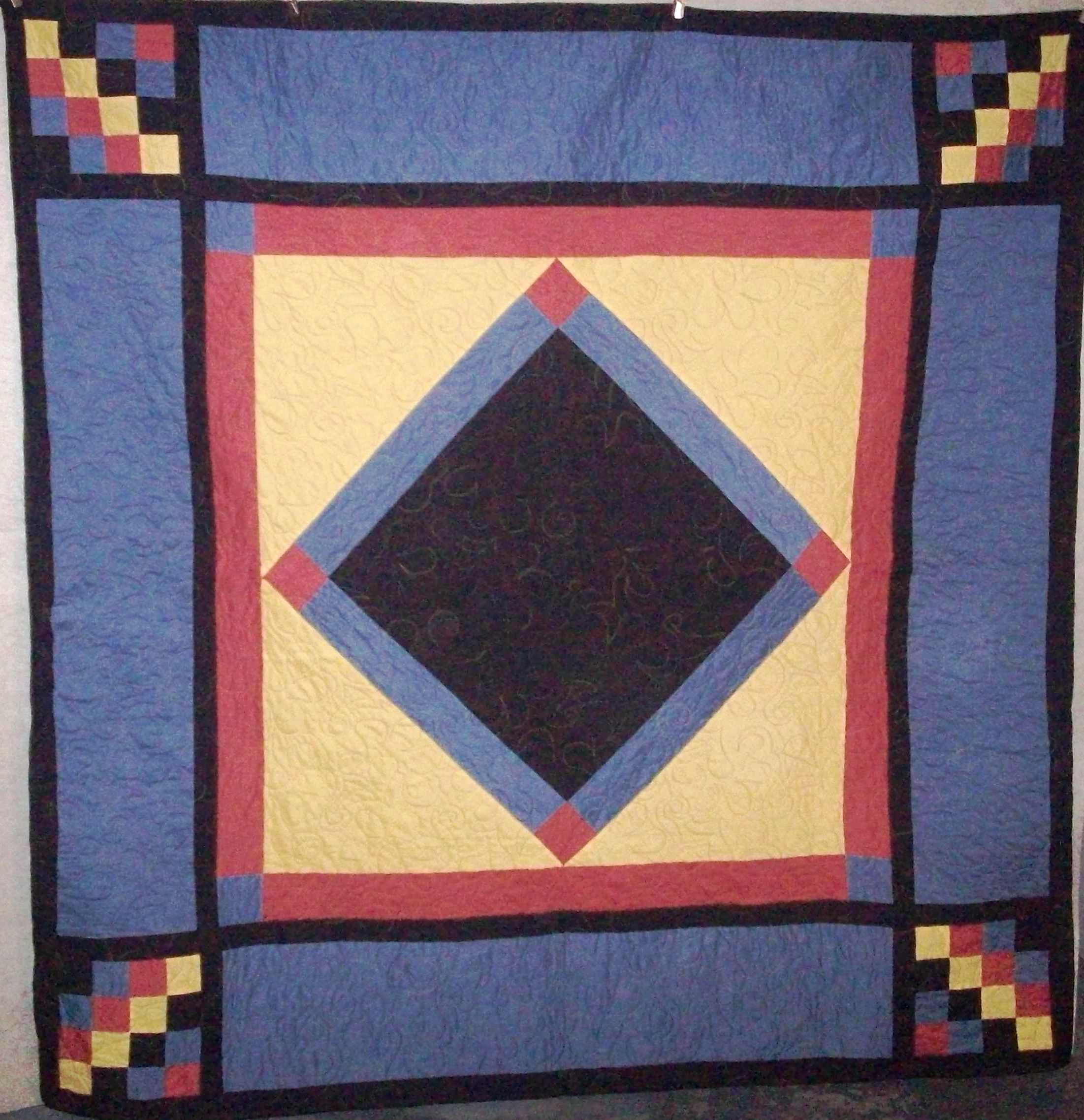 $140.00 Modern Amish lap quilt 66 x 66 inches