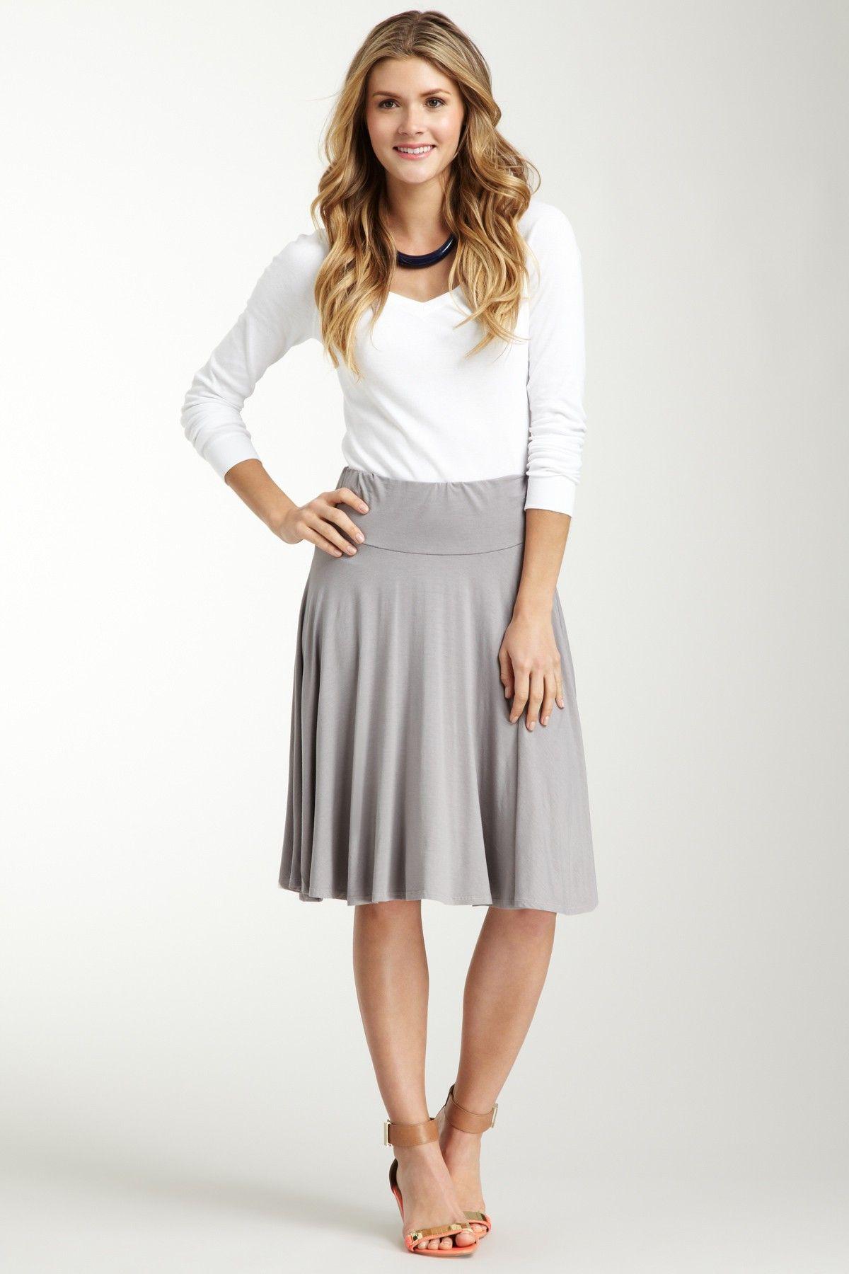 Three Dots Flared Skirt