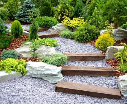 ideen mit mauern und treppen | garten, Garten und Bauen