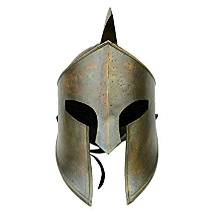 Amazon Com Unique Customized Gifts Steel Helmet Spartan King Like Helmet Wearable With Leather Cap Home Kitchen Spartan Helmet Roman Helmet Leather Cap