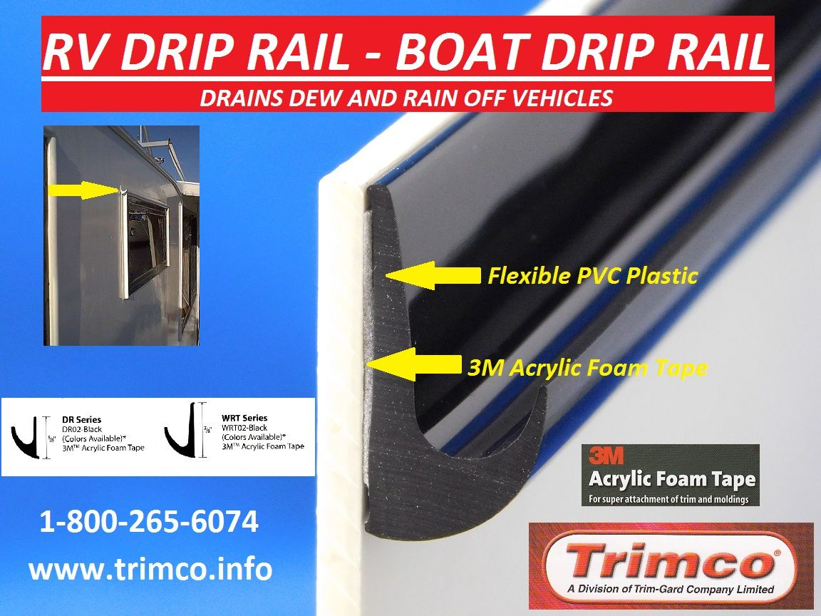 Trimco Rv Drip Rail Boat Drip Rail Is Made With Flexible