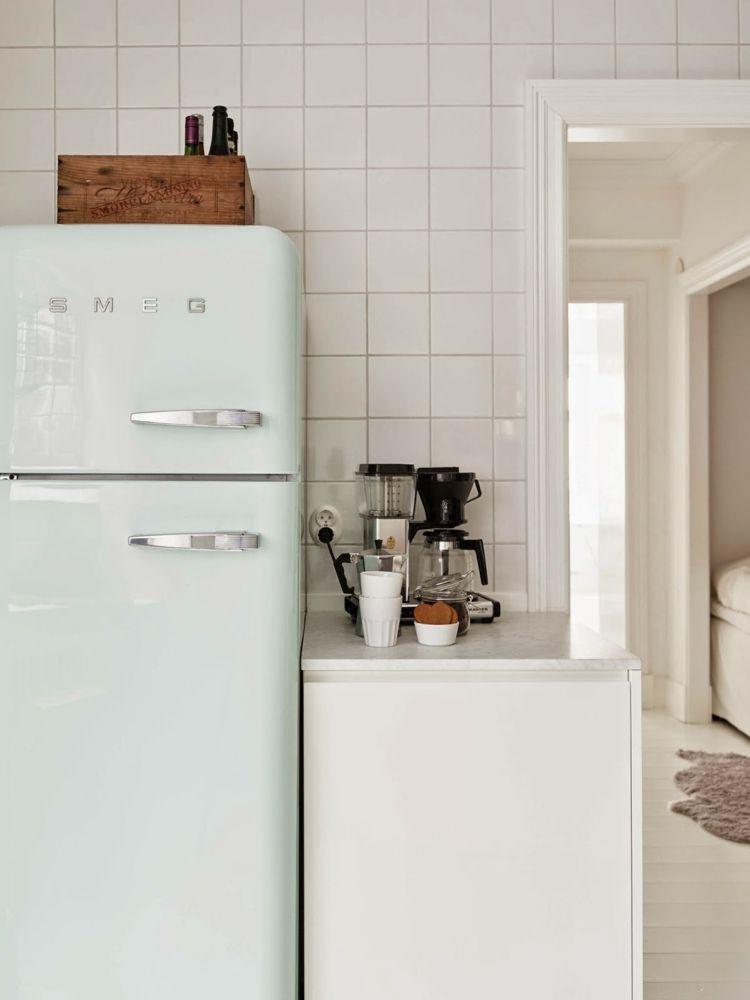 SMEG Kühlschrank in Weiß | Smeg Kühlschrank | Pinterest | Smeg ... | {Kühlschränke smeg 32}