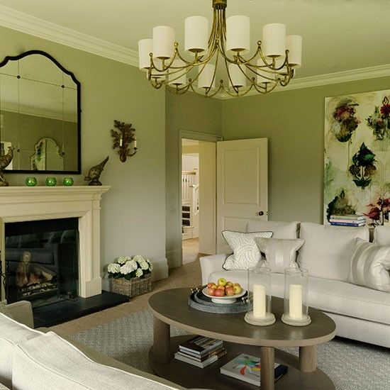 Classic taupe and cream living room cream living rooms - Sage green living room ...