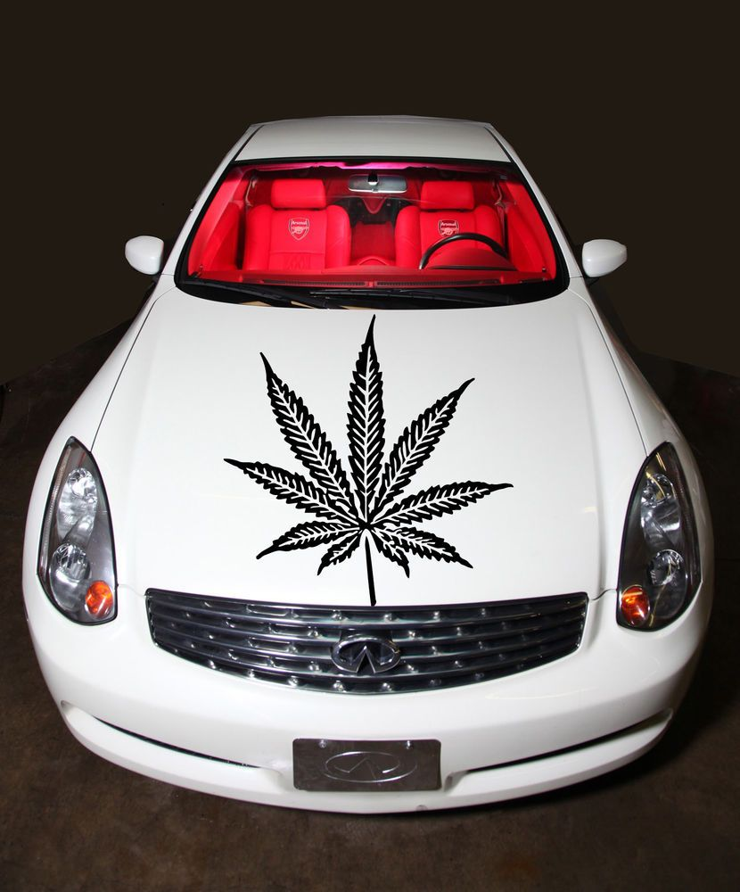 Car sticker design pinterest - Car Hood Vinyl Sticker Decals Graphics Cannabis Leaf Floral Design T180