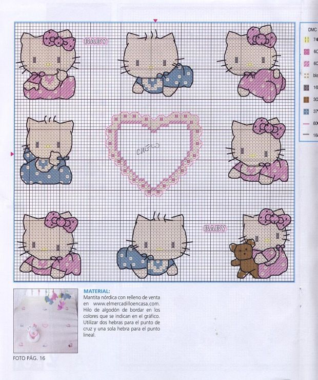 hello kitty cross stitch | Hello | Cross Stitch, Stitch y Hello kitty