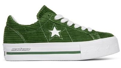 209152539a4 Converse X MADAME One Star Platform Green