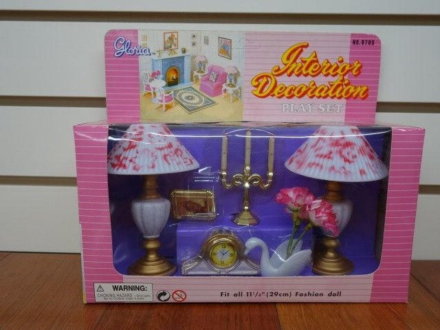 Gloria,Barbie Size Doll  Furniture// Refrigerator /& Food Accessoie Set 94017