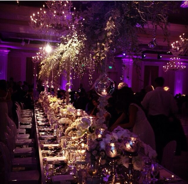 Purple And Gold Wedding Reception Over The Top Done Right