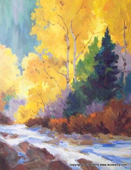 Contemporary Landscape Artists International Contemporary Autumn Landscape Painting Autumn On Chalk Creek By Painting Landscape Paintings Landscape Artist