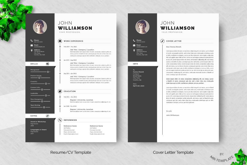 Resume Cv Template Word On Behance Bewerbung