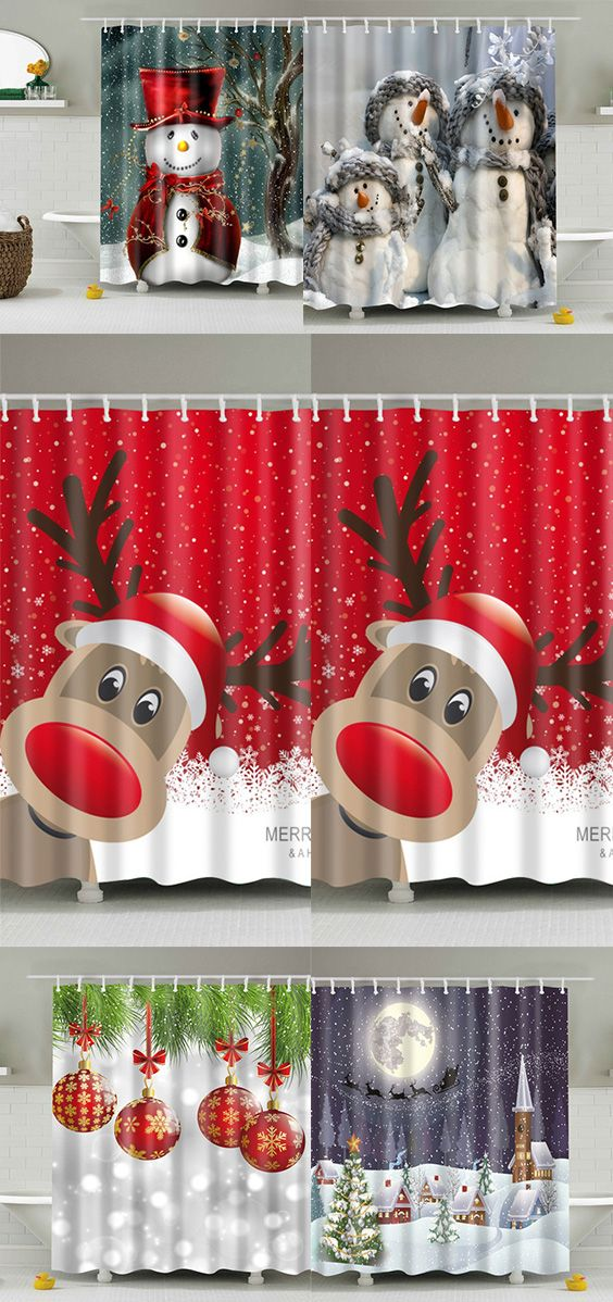 Merry Christmas Shower Curtains