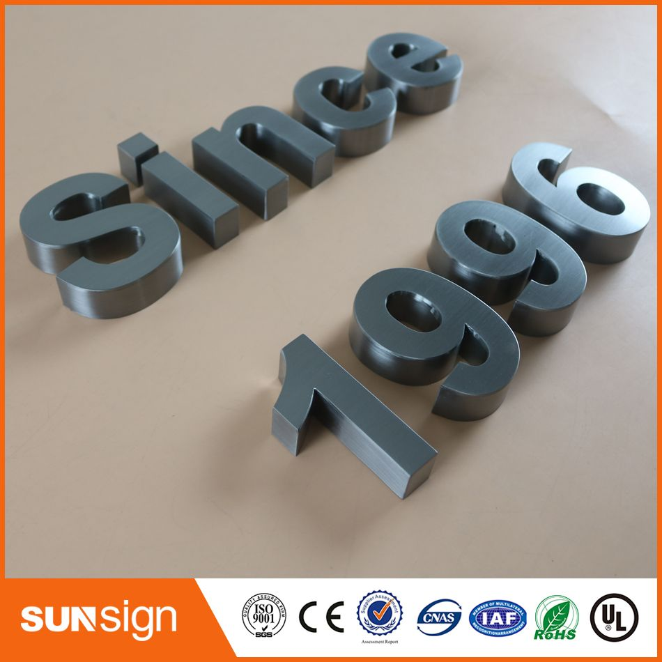 Steel Letters For Signs Enchanting Wholesale Outdoor Advertising Brushed Chromed Stainless Steel Design Decoration