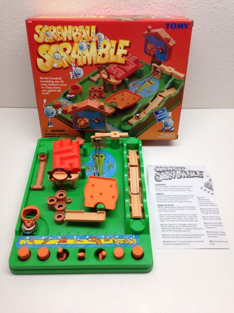 Tomy Screwball Scramble Game 7070 Obstacle Course Marble Maze Missing Steel Ball Childhood Games Games Marble Games