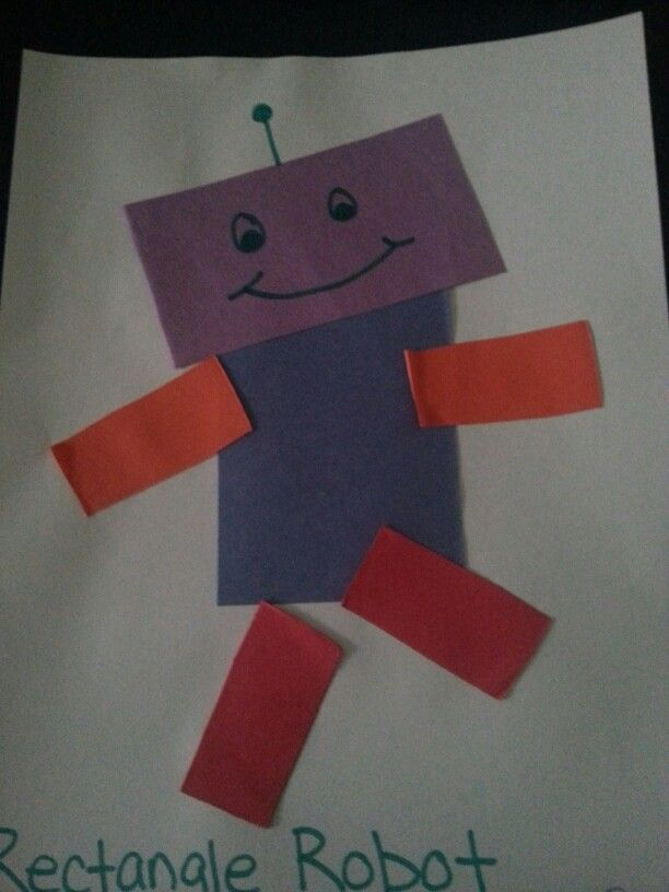 Rectangle Robot Preschool Art Projects Preschool Crafts