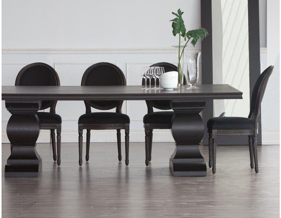 Swell Louis Black Upholstered Oak Wood Dining Chair New House Spiritservingveterans Wood Chair Design Ideas Spiritservingveteransorg