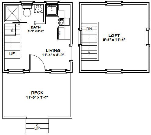 12x12 Tiny House 267 Sq Ft Excellent Floor Plans Tiny House Floor Plans Tiny House Loft Little House Plans