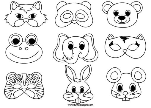 Maschere Animali Da Colorare Craft Ideas Mascaras Carnaval