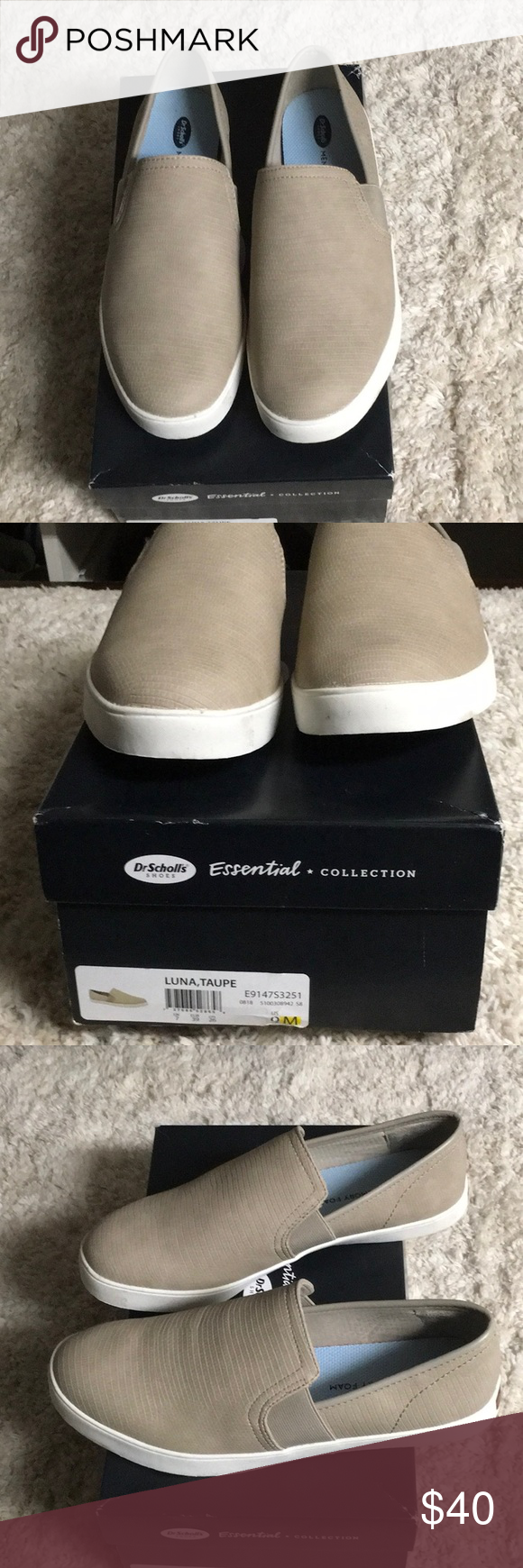 Dr Scholls Luna taupe New in box Dr