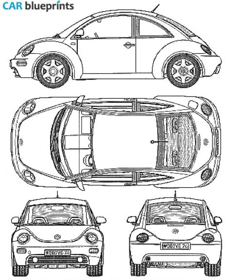 1999 volkswagen new beetle hatchback blueprint