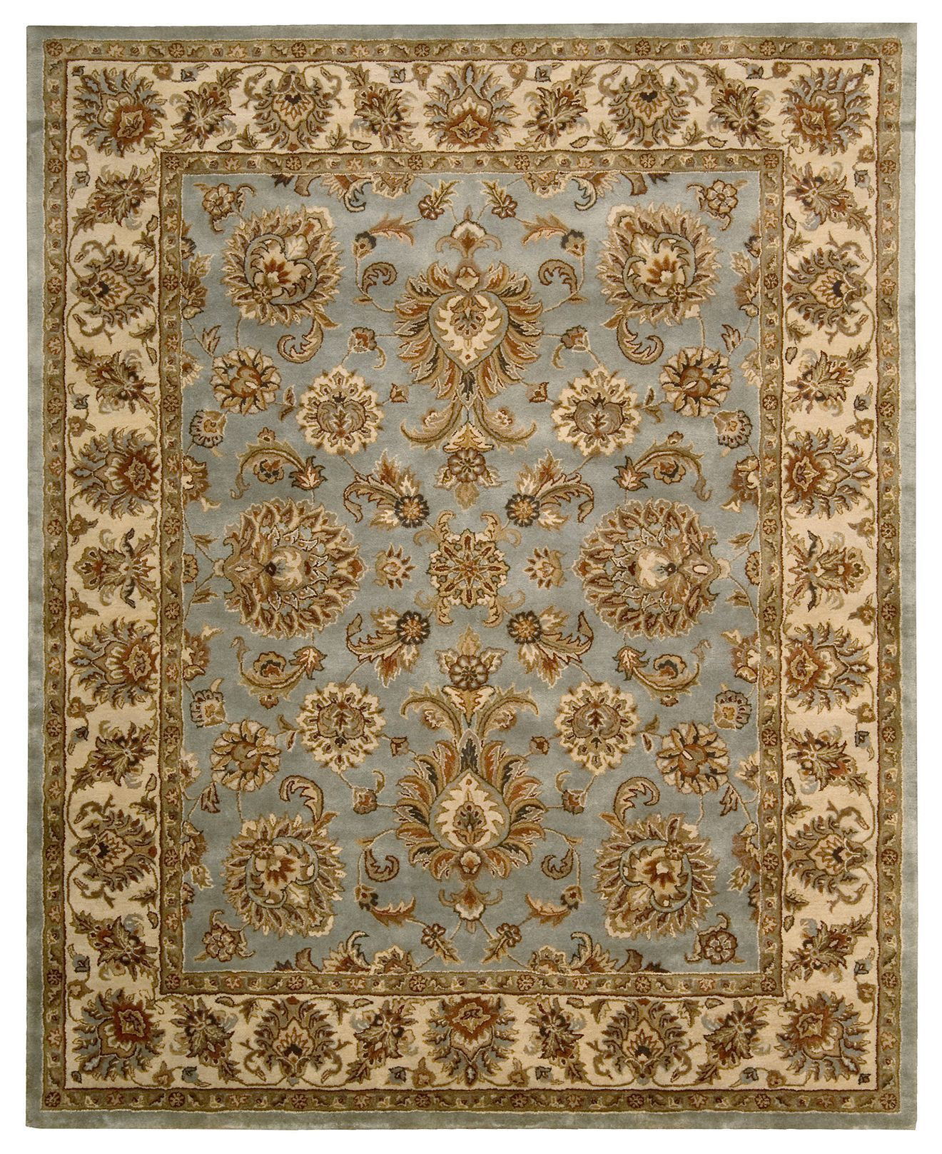 Nourison Area Rug Rajah Collection Ja32 Indore Light Blue 8 3 X
