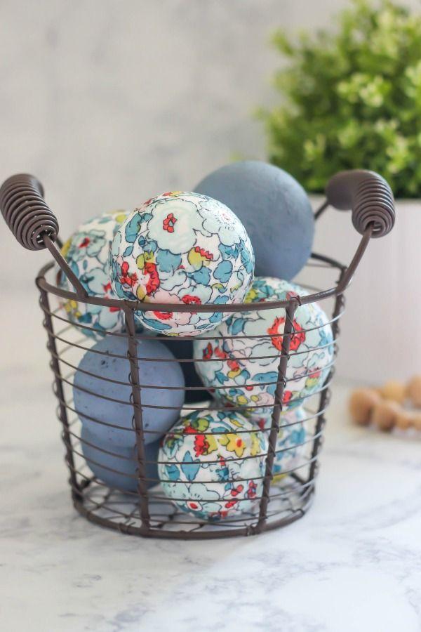 Floral Decoupage Decorative Balls   Create Beautiful Home Decor With Paper  Napkins, Foam Balls, And Decoupage.