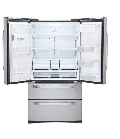 LG Studio Large Capacity Counter Depth 4 Door French Door Refrigerator With  Ice U0026 Water Dispenser   Stainless Steel