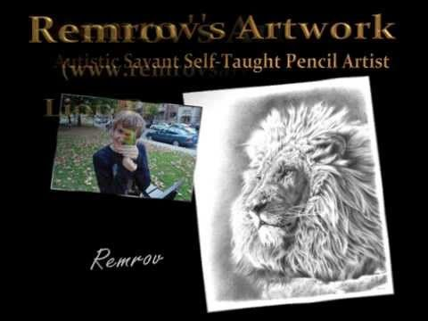 Remrov's Artwork, Lion Pencil Drawings.