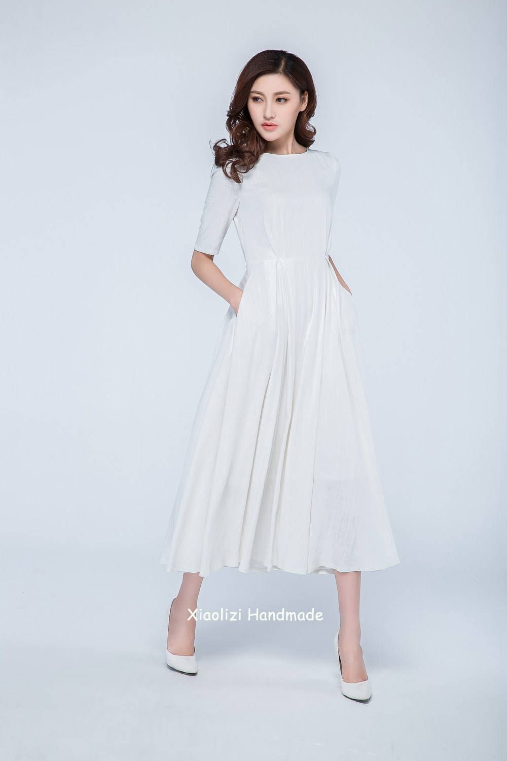 Fashion week Wedding Linen dresses summer pictures for woman