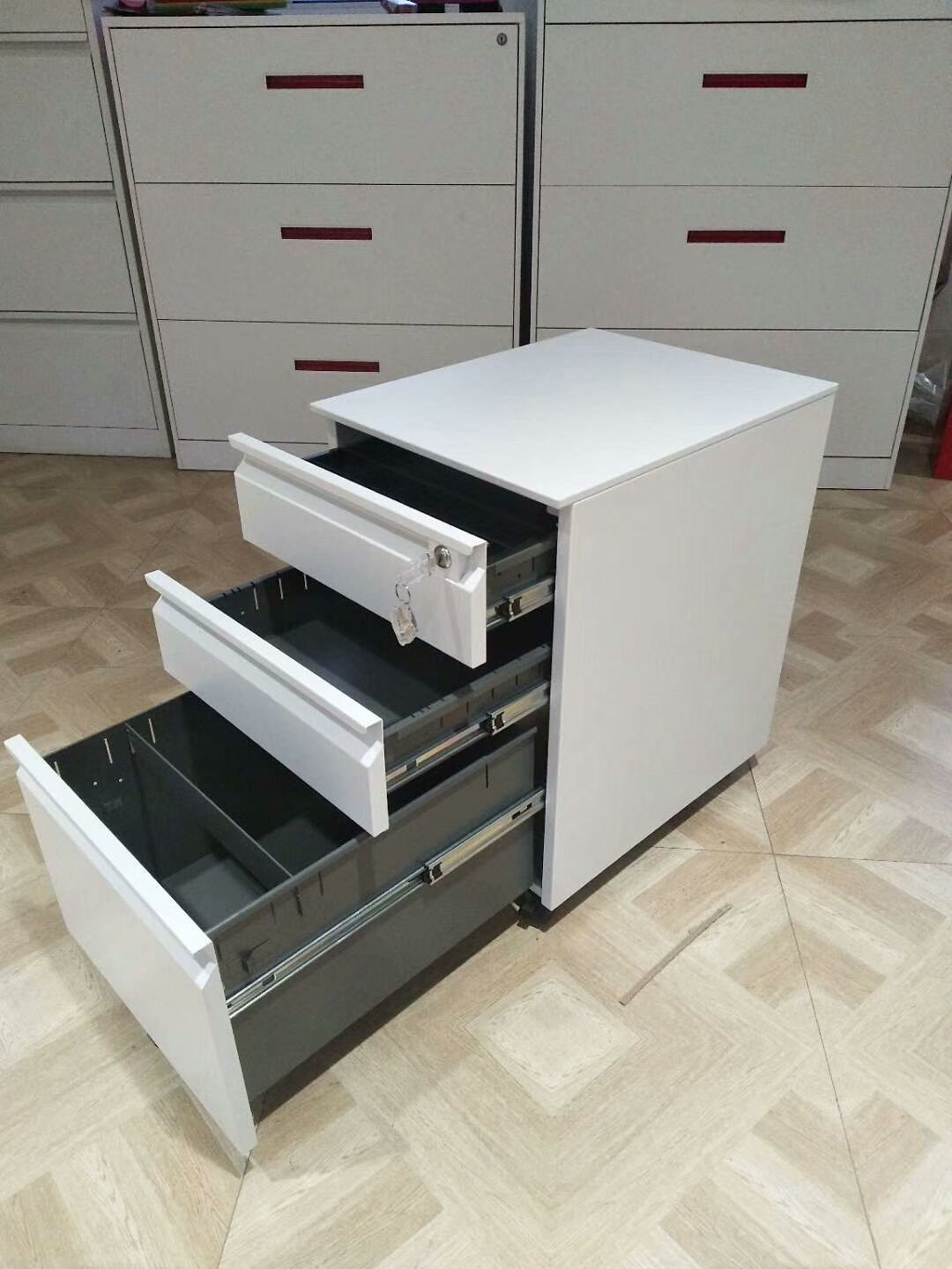 Mobile Pedestal Cabinet Used For Office It Is Very Convenient For
