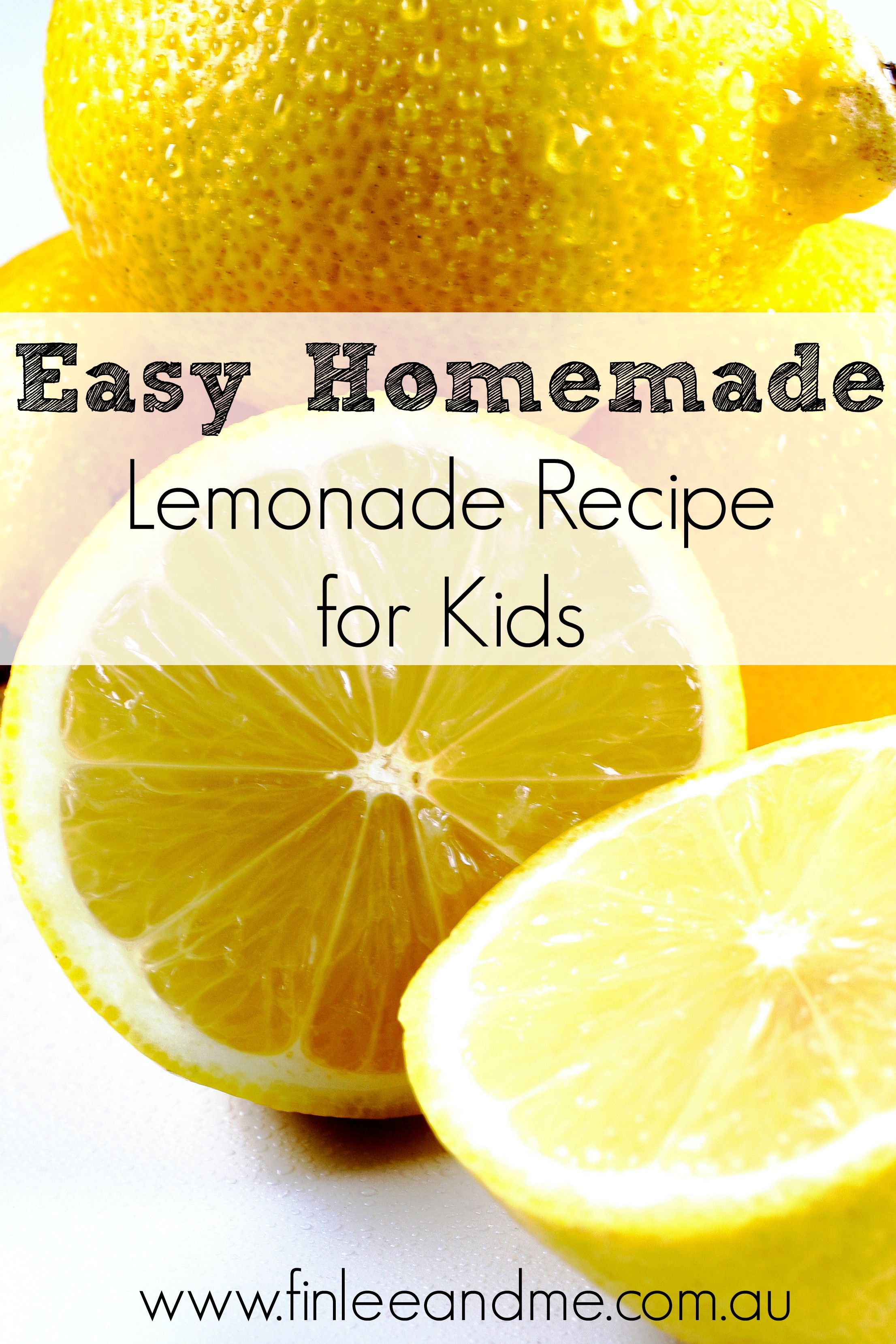 Easy Lemonade Recipe for Kids | Cooking with Kids | Finlee & Me