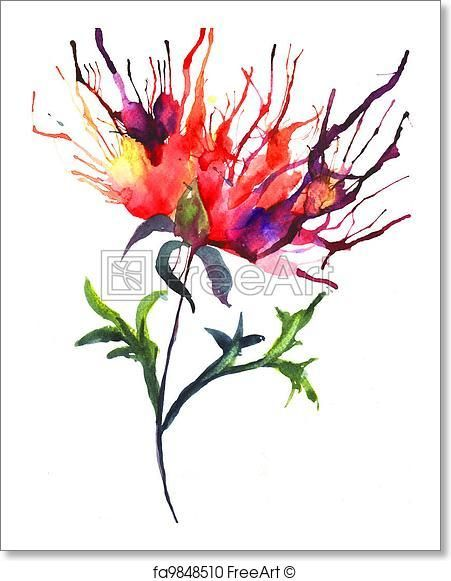 Free Art Print Of Abstract Illustration Peony Flowers