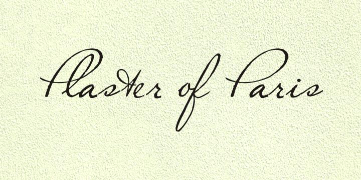 Plaster of Paris font by Intellecta Design - FontSpace