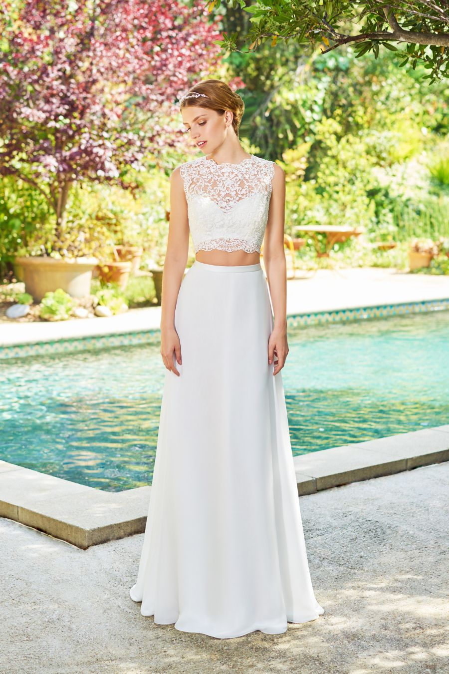 Boat neck lace wedding dress october 2018 The One Trend in Wedding Gowns That Will Leave All of Your Guests