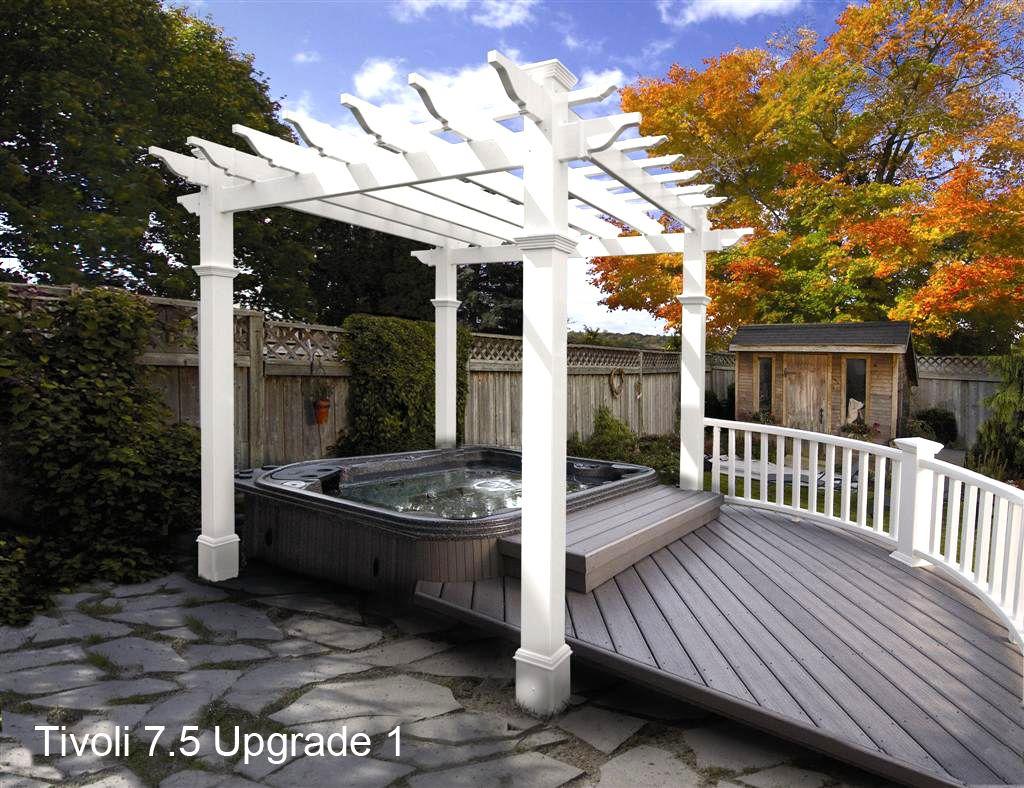 Tivoli Flat Top Vinyl Pergola Pergola patio, Outdoor