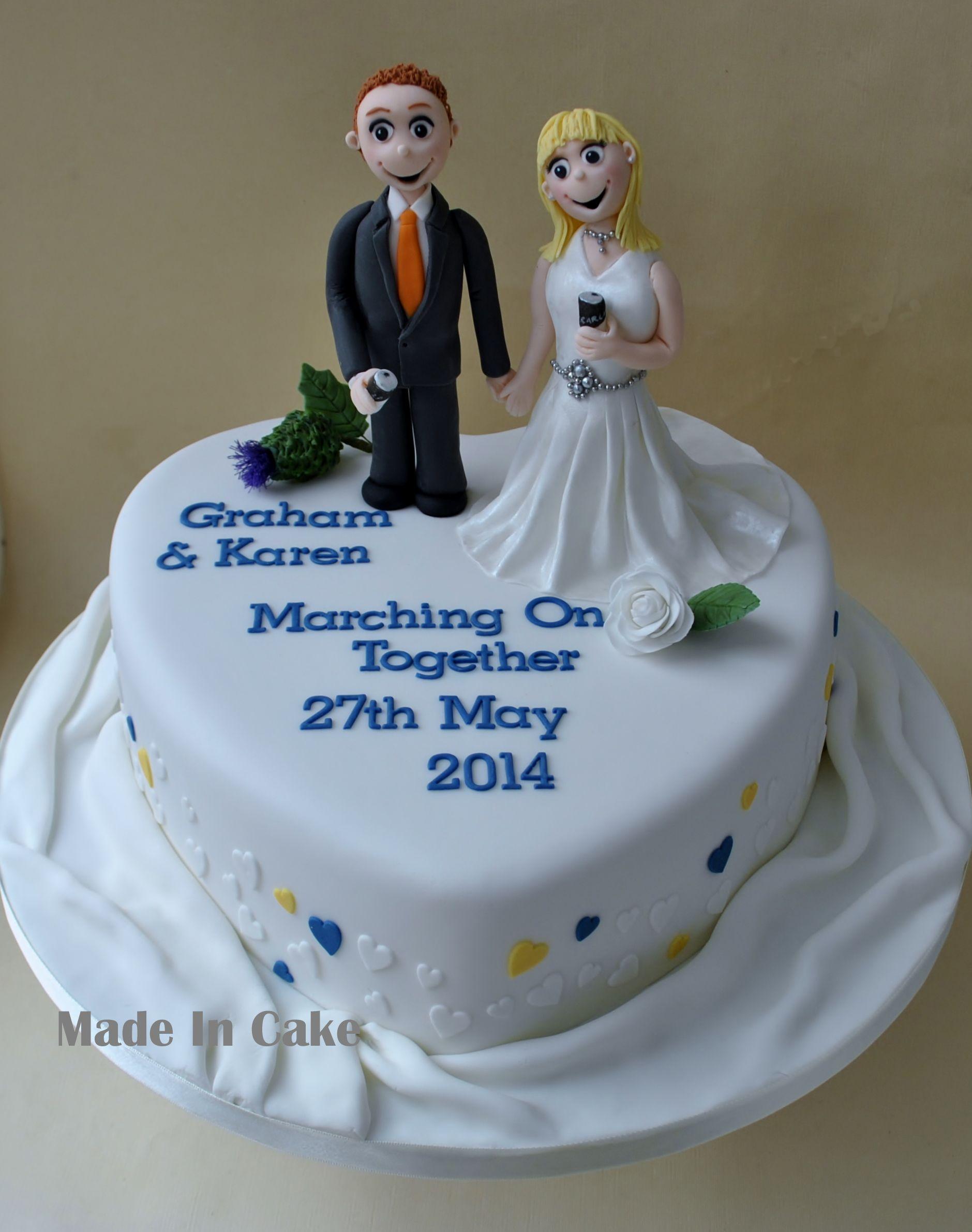 Leeds United Heart Wedding Cake