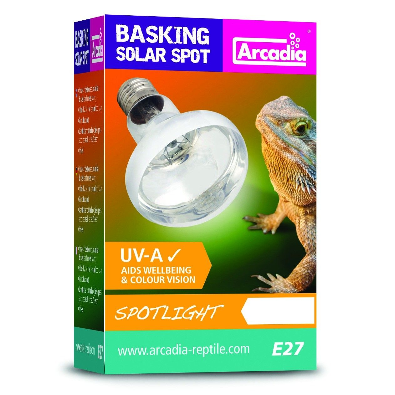 Arcadia Basking Spot Heat Lamp 50w Fraser Promotions Ltd Arcadia Reptile Solar Lighting