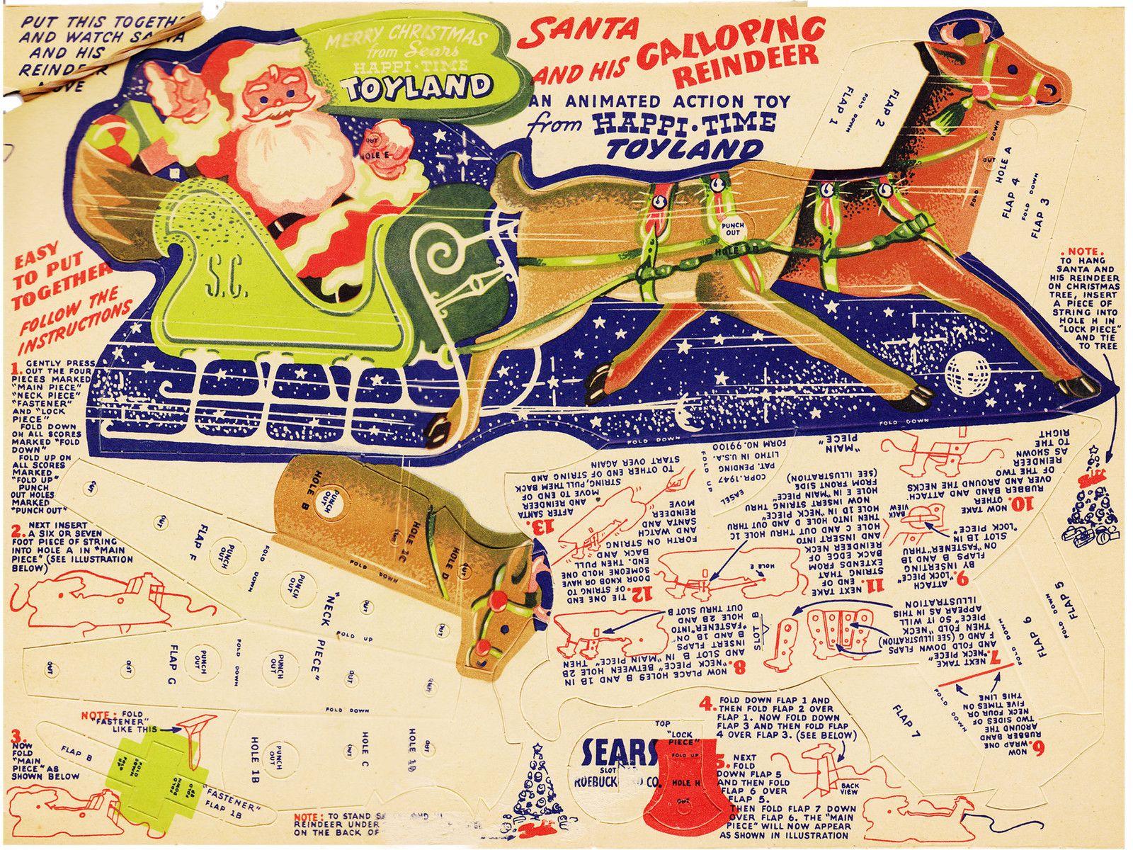 VNT 1950s Santas Workshop CHRISTmas PAPER DOLL HD LASR REPRODUCTIN TOP SEL LOPr