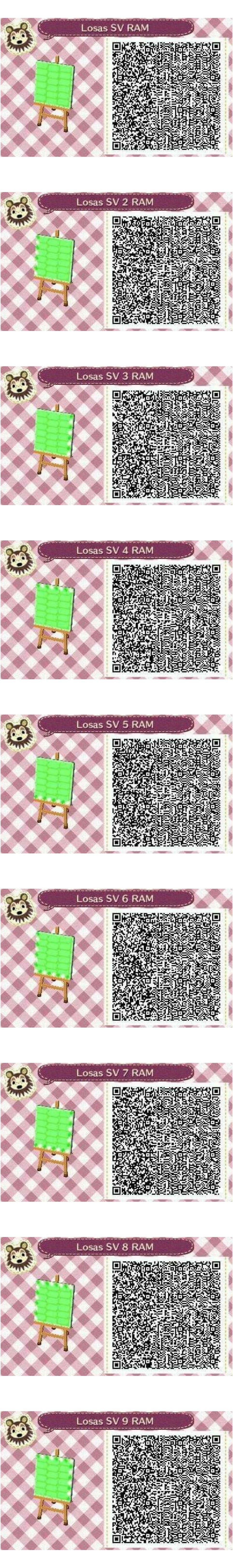 Este es un QR Code para Animal Crossing creado por mí misma. Como podéis observar es una losa de
