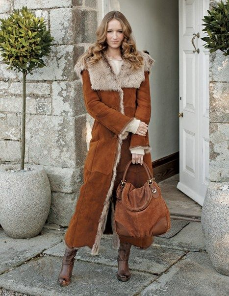 Long Toscana Coat, from Celtic Sheepskin | Fashion | Pinterest ...