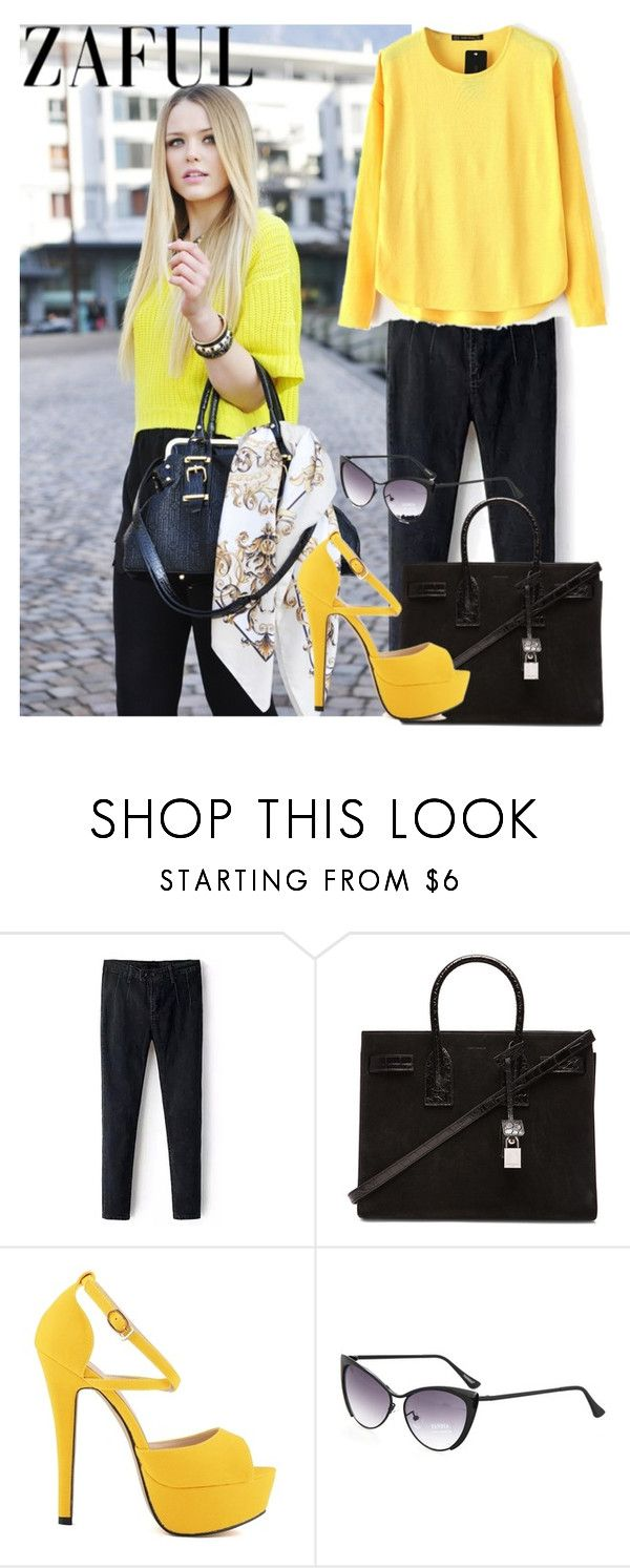 """http://www.zaful.com/?lkid=4531 (93)"" by mary0508 ❤ liked on Polyvore featuring Yves Saint Laurent"