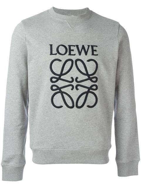 LOEWE logo embroidered sweatshirt. #loewe #cloth #스웨트셔츠