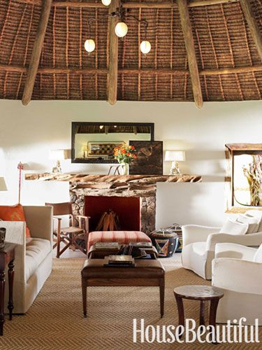 IndoorOutdoor Living in Kenya Living rooms Mantels and Room