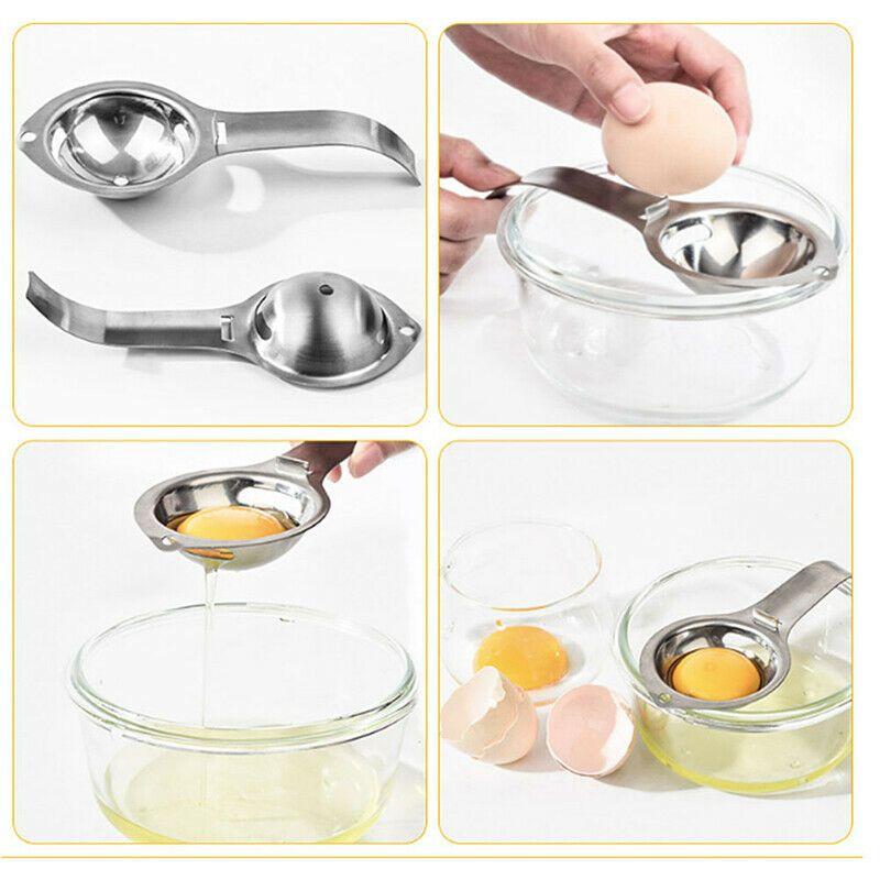 Egg Tool Stainless Gadget Separator Yolk Filter Cooking Home Steel White Kitchen