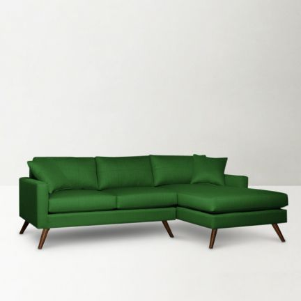 Rainforest Italy Dane L Shape Sofa Green