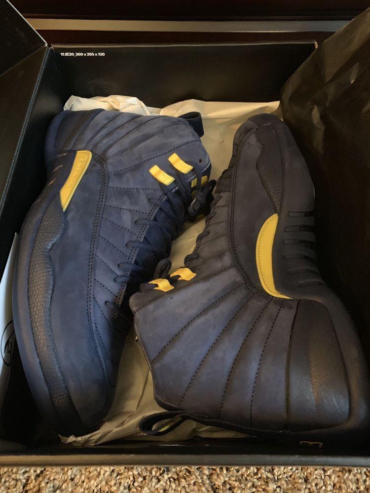 best sneakers ab2a3 dc9f6 Air Jordan 12 Rtr Michigan #fashion #clothing #shoes ...