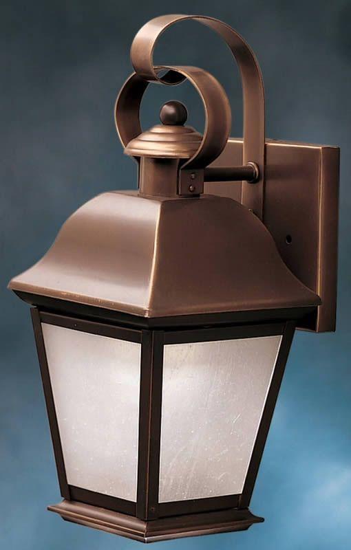 "0-012880>13""""h Mount Vernon 1-Light Outdoor Wall Lantern Olde Bronze"